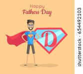 happy fathers day poster. daddy ... | Shutterstock .eps vector #654492103