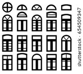 simple windows of different... | Shutterstock .eps vector #654509347