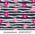 trendy seamless floral ditsy... | Shutterstock .eps vector #654515917