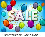 vector sale banner with... | Shutterstock .eps vector #654516553