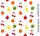 cute seamless pattern with...   Shutterstock .eps vector #654519733
