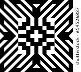 abstract tile with black white... | Shutterstock .eps vector #654526837