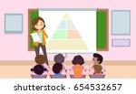 illustration of a teaching... | Shutterstock .eps vector #654532657