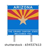 arizona state road sign | Shutterstock .eps vector #654537613