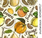 decorative seamless pattern... | Shutterstock .eps vector #654560917