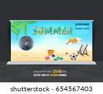 outdoor banner summer season... | Shutterstock .eps vector #654567403