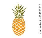 pineapple 1   Shutterstock .eps vector #654571213