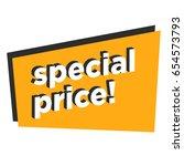 special price written in flat... | Shutterstock .eps vector #654573793