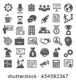business icons. management ... | Shutterstock . vector #654582367