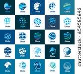 vector logo globe | Shutterstock .eps vector #654585643