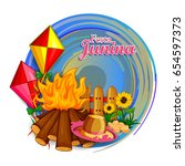 vector illustration of festa... | Shutterstock .eps vector #654597373