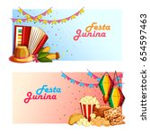 vector illustration of festa... | Shutterstock .eps vector #654597463
