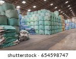 big bags stack that contain the ... | Shutterstock . vector #654598747