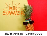 summer and holiday concept... | Shutterstock . vector #654599923