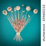 sheaf of spaghetti. components... | Shutterstock . vector #654602113