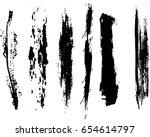 set of grunge brush strokes | Shutterstock .eps vector #654614797