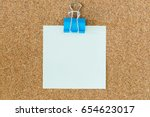 colorful binder clips spread on ... | Shutterstock . vector #654623017