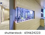 aquarium in the interior of... | Shutterstock . vector #654624223