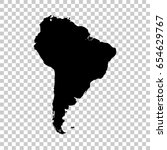 south america map isolated on... | Shutterstock .eps vector #654629767