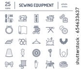 sewing equipment  tailor... | Shutterstock .eps vector #654633637