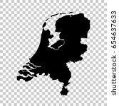 netherlands map isolated on... | Shutterstock .eps vector #654637633