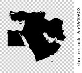 middle east map isolated on... | Shutterstock .eps vector #654640603