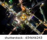 aerial view of traffic on the... | Shutterstock . vector #654646243