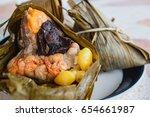 rice dumpling  zongzi or... | Shutterstock . vector #654661987