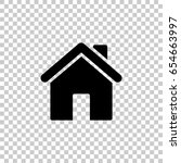 home icon isolated on... | Shutterstock .eps vector #654663997
