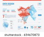 futuristic infographic.... | Shutterstock .eps vector #654670873