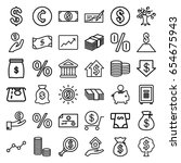 investment icons set. set of 36 ... | Shutterstock .eps vector #654675943