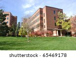Brick Building on University of Minnesota St. Paul Campus - stock photo
