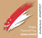 singapore independence day...   Shutterstock .eps vector #654695527