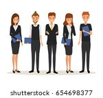 business people team work... | Shutterstock .eps vector #654698377