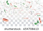 realistic falling bokeh white... | Shutterstock .eps vector #654708613