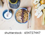 food layout above. healthy... | Shutterstock . vector #654727447