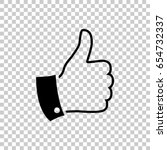 thumb up icon isolated on... | Shutterstock .eps vector #654732337