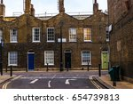typical old english buildings ... | Shutterstock . vector #654739813