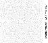 hand drawn oriental ornamental... | Shutterstock .eps vector #654741457