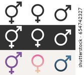 pack of gender icons. male ...   Shutterstock .eps vector #654742327