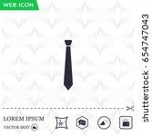 necktie icon   vector | Shutterstock .eps vector #654747043