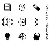 set of simple icons on a theme... | Shutterstock .eps vector #654753523