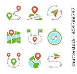 geo location  travel  journey ... | Shutterstock .eps vector #654766747