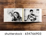 photo album with pictures of... | Shutterstock . vector #654766903