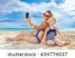 sun kissed beauty. happy... | Shutterstock . vector #654774037