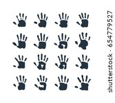 isolated abstract handprint... | Shutterstock .eps vector #654779527