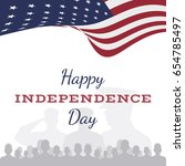 celebrate happy 4th of july  ... | Shutterstock .eps vector #654785497