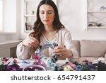 handmade headbands making  home ...   Shutterstock . vector #654791437