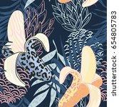 daring  wild  evocative ... | Shutterstock .eps vector #654805783