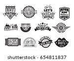 bike badge vintage set. sports... | Shutterstock .eps vector #654811837